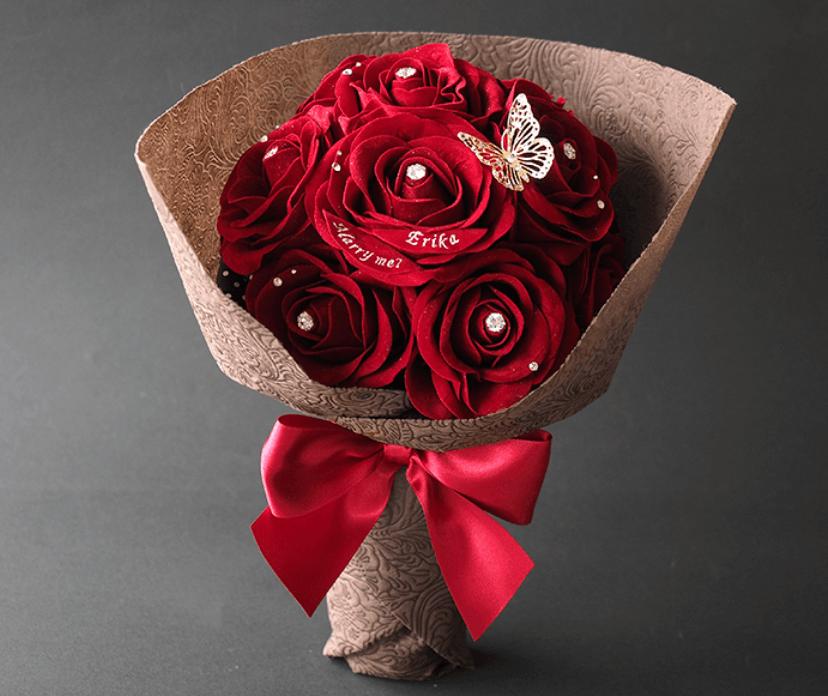 花束風スペシャルメッセージフラワー 赤バラ